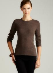 Evelyn Cashmere Walnut Cashmere Pullover
