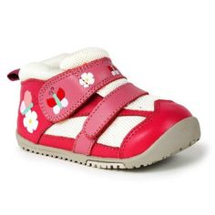 Red and White Baby / Kid Sneakers Shoes Butterflies Flowers
