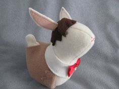 The 11th Doctor as a cute toy bunny...