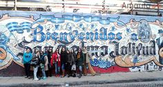 A group picture in the streets of San Telmo
