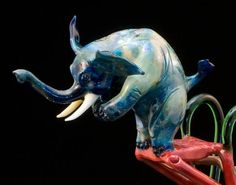 High Dive Glass Elephant FREE SHIPPING by BlowHardGlass on #Etsy, $635.00