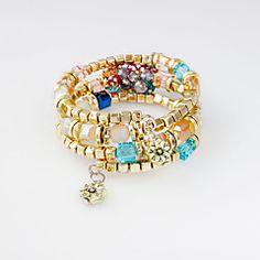 F&U Elegant CCB Plastic Fashion Trendy Europe Popular Women Charm Bracelet Wrap Bracelet for Girl Cheap Bracelets, Bangle Bracelets, Bangles, Bracelet Wrap, Fashion Bracelets, Trendy Fashion, Turquoise Bracelet, Elegant, Stuff To Buy