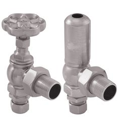 The Bellis valve in a satin nickel finish Traditional Radiators, Cast Iron Bath, Copper Bath, Radiator Valves, Roll Top Bath, Cast Iron Radiators, Nickel Finish, Daisy, Chrome
