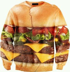 """If I had this shirt, I would somehow add to it, """"Do I make you hungry, baby?""""  Then it would be funny, not just weird."""