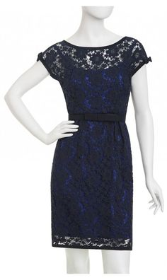 Navy Lace Dress - Nanette Lepore