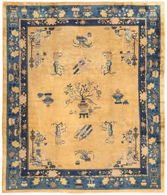 Click here to learn more about this beautiful antique Chinese carpet, now available for sale through Nazmiyal Collection Antique Rugs.