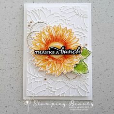 Handmade Birthday Cards, Happy Birthday Cards, Stampin Up Karten, Sunflower Cards, Stamping Up Cards, Up Girl, Homemade Cards, Making Ideas, Thank You Cards
