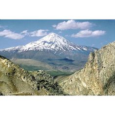 Iran ~ Not far from Tehran, within the Alborz folds, 18,000 foot Mt. Damavand is capped with year-round snow