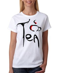 Tea t-shirt Cup of tea shirt Art print Tea cup by StarForgeDesign