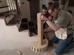 How to Build Staircase Balusters and Newel Posts | how-tos | DIY
