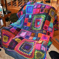 The Granny's Square Afghan pattern for free Start Download here the PDF