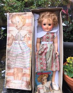 1950s Pedigree Elizabeth Dressmaking Vintage Hard Plastic Doll in Original Box