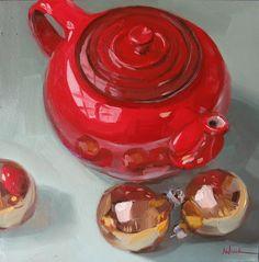A beautiful Holiday tea painting
