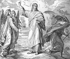 Bilder der Bibel - Versuchung Christi - Julius Schnorr von Carolsfeld