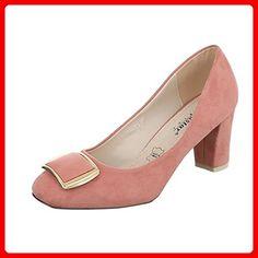 Komfort Pumps Damen-Schuhe Geschlossen Pump Bequeme Ital-Design Pumps  Altrosa, Gr 39