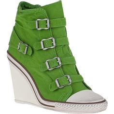 5c2fb28996d ASH Thelma-Bis Wedge Sneaker Apple Canvas found on Polyvore featuring  polyvore
