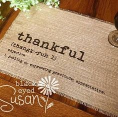 Simple placemats in time for Thanksgiving!