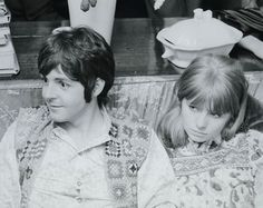 1967 - Paul McCartney and Jane Asher in London.