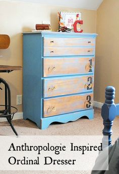 Anthropologie Inspired Ordinal Dresser