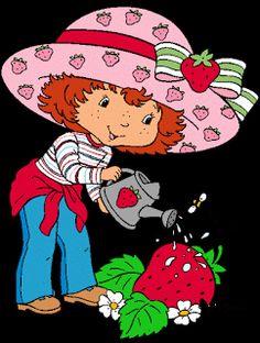 Strawberry Shortcake Cartoon Characters   strawberry_shortcake_with_strawberry_4.gif