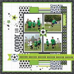 This action packed layout was created by the Doodlebug design team and used the Goal collection!