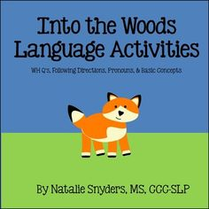 Adorable early language therapy activities - perfect for preschool and kindergarten students!