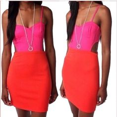 Lucca Couture Colorblock Cut Out Dress