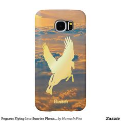 Pegasus Flying Into Sunrise Phone Case Samsung Galaxy S6 Cases