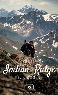 A visual description of the Indian Ridge #hike. A challenging day hikes starting at the top of the Jasper Skytram and one of the best day hikes in Jasper National Park in Canada.
