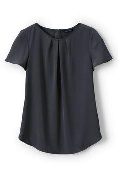 Women's+Regular+Short+Sleeve+Keyhole+Soft+Blouse+from+Lands'+End