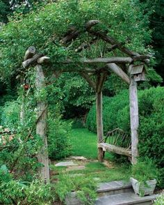 Leave plenty of headroom under archways, arbors, and pergolas. 7 feet to be the minimum, and usually add at least another 18 inches.  Width should allow structure to be outside of walking space.