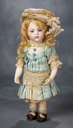 Beautiful and Rare French Bisque Bebe, Size 1, by Leon Casimir Bru with Bru Shoes 12,000/17,000