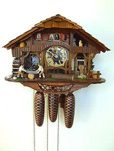 Chalet-Kuckucksuhren Kuckucksuhr 8-Tages-Uhrwerk Chalet-Stil 30cm von Anton Schneider