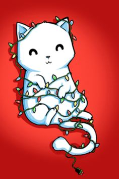 a tied up , white pussy .. in christmas lights - reminds me of m*
