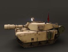 Low Poly tank in Blender