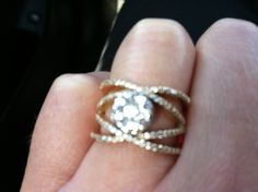 Anniversary ring..i love the band on this!