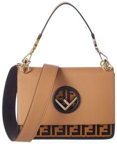 1bde48f7db8f Fendi Women s Leather Handbag Shopping Bag Purse Kan I F Brown