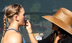 Melanie Oudin behind the scenes at the Wilson 2014 photoshoot