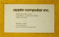 Steve Job's Business Card