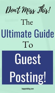 The Ultimate Guide to Guest Posting (2019): This one strategy will help you to increase your blog traffic as well as establish yourself as an authority in your niche. Read this ultimate guide to learn how to find guest posting opportunities, how to write the perfect guest post pitch, how to write guest posts like an expert etc. #guestposting #blogging #blog #blogtips Content Marketing Strategy, Business Marketing, How To Attract Customers, Online Business, Business Tips, Blogging For Beginners, Blog Tips, Social Media Tips, How To Start A Blog