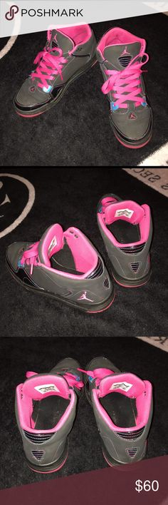 8fcbb84616697 Jordan Sneakers Jordan As You Go Basketball Sneakers. They are mostly all  black with pink