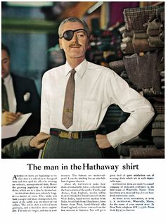 The Man in the hathaway shirt // example of story appeal