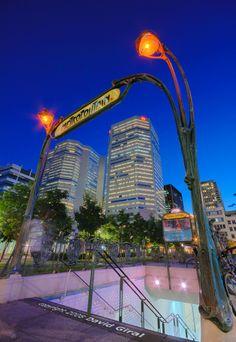 Guimard/Square Victoria Metro in Montreal, QC