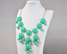 Amazon.com: Bubble Necklace, Green Necklace, Statement Necklace (Fn0508-Green): Y Shaped Necklaces: Jewelry