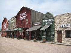 Front Street and Cowboy Museum, Ogallala, Nebraska. I spent an amazing summer working at Front Street. Waiting tables in the restaurant during the day, singing in the show at night, swimming at the lake on my days off. Old West Town, Old Town, Ogallala Nebraska, Westerns, Old Western Towns, The Lone Ranger, Le Far West, Play Houses, Bunk Houses