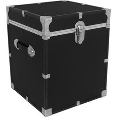 Locking Trunk With Wheels (Black) For #storage In #dorm Room. #Organizing |  College Prep | Male Student | Pinterest | Dorm Room, Dorm And Organizing Part 94