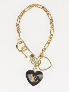 Louis Vuitton Amarante Heart Key Holder and Bag Charm