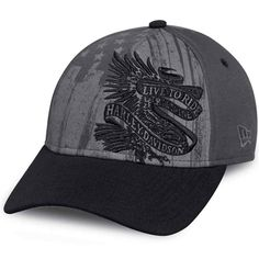 5eeea401250 Harley-Davidson Americana Embroidered Men s Adjustable Baseball Cap Best  Bike Shorts