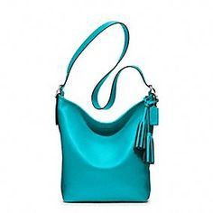 Coach Legacy leather duffle in Tourmaline. So kind of them to make this in my favorite color of all time. ;)