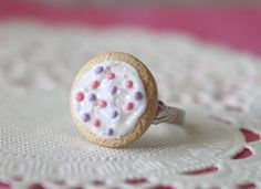 Sugar Cookie Adjustable Ring Cute  by Cutetreats on Etsy, $10.00